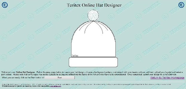 Teritex Online Hat Designer - User Guide - design your own football hat