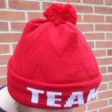 Inage of  jacquard 3d knitted hat