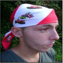An example of a custom designed football / soccer supporter's bandana made by Teritex