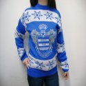 A custom designed knitted football / soccer sweater manufactured by Teritex