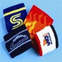 A selection of custom designed football / soccer wristbands, headbands and armbands manufactured by Teritex