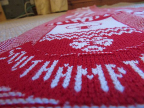 Image of jacquard knitted 3D scarf - top scarf design tip - consider cutting edge styles